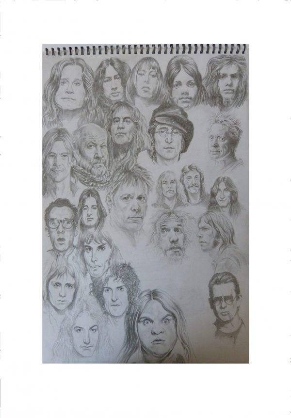 Rock heroes illustration