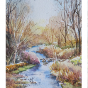 Malham stream watercolour